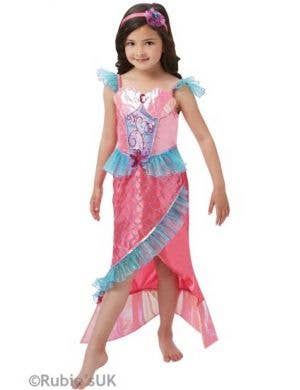Mermaid Princess Girls Fancy Dress Costume Main Image