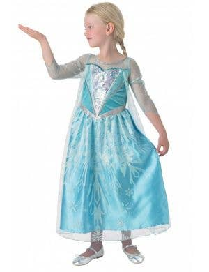 Licensed Snow Queen Elsa Girls Deluxe Fancy Dress Costume