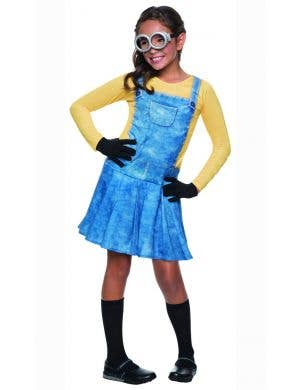 Girls Minion Movie Yellow Minion Fancy Dress Costume Main Image