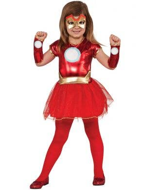 Girls Iron Man Marvel Comics Superhero Book Week Costume Main Image