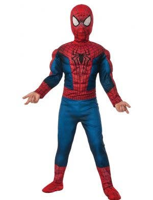 Amazing Spiderman Boys Muscle Chest Costume