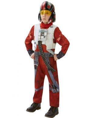 Boys Star Wars Poe Dameron Fighter Pilot fancy dress costume