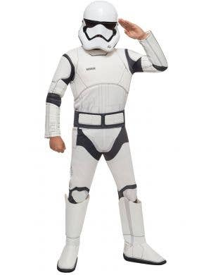 Force Awakens Stormtrooper Star Wars Boys Deluxe Costume Main Image