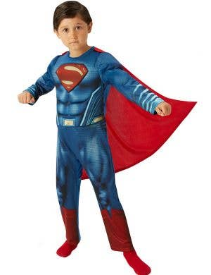 Deluxe Superman Boy's Muscle Chest Dawn of Justice Costume