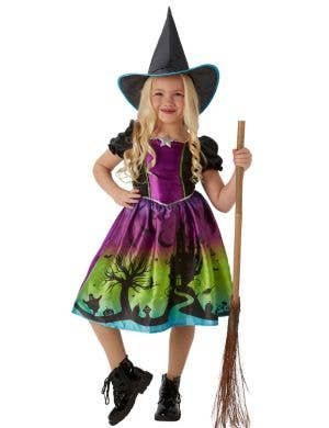 Ombre Witch Girl's Halloween Costume