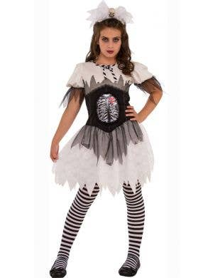 Open Rib Gothic Skeleton Halloween Teen Girls Costume Main Image