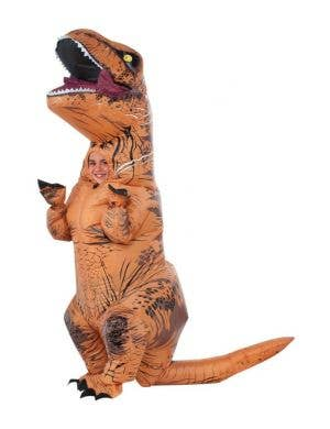 Inflatable T-Rex Kids Dinosaur Costume with Sound