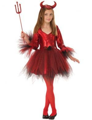 Classic Devil Girl's Red Halloween Costume