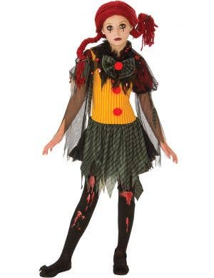 Undead Clown Girls Halloween Zombie Costume