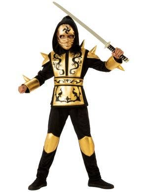 Gold Japanese Ninja Boys Book Week Costume