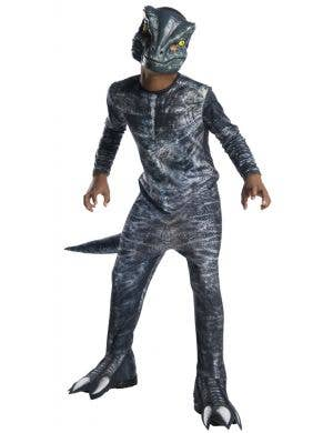Blue Jurassic World Raptor Boys Dinosaur Fancy Dress Costume