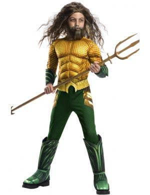 Deluxe Boy's Aquaman Superhero Fancy Dress Costume