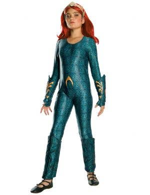 Mera Deluxe Aquaman Atlantis Queen Girl's Superhero Costume