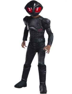 Aquaman Black Manta Villain Boy's Fancy Dress Costume