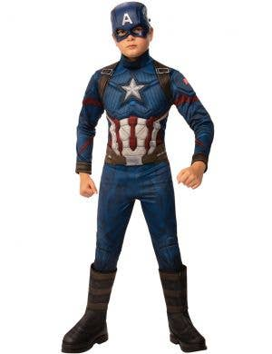 Avengers Endgame Captain America Boys Superhero Costume