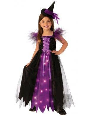 Light Up Fancy Witch Girl's Halloween Costume