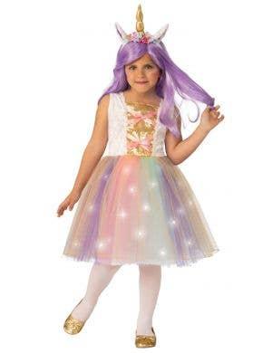 Light Up Unicorn Girl's Book Week Costume