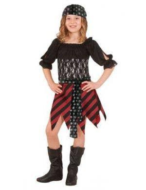 Girls Classic Pirate Fancy Dress Book Week Costume