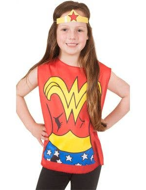 Wonder Woman Girl's Fancy Dress Costume Set