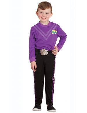 The Wiggles boys Lachy purple fancy dress costume for kids