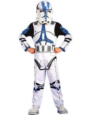 Clone Trooper 501st Legion Action Suit Star Wars Boys Costume Image