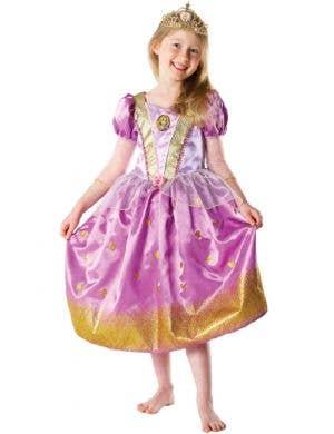 Girl's Rapunzel Disney Princess Fancy Dress Front View