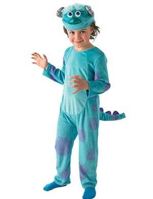 Sulley Kid's Blue Monsters University Onesie Costume Front