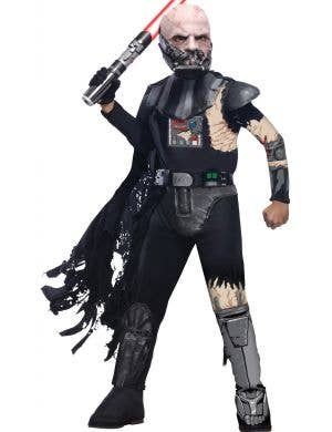Boys Star Wars Battle Ravaged Darth Vader fancy dress costume main image