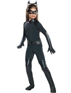 Girl's Dark Knight Catwoman Costume Front View