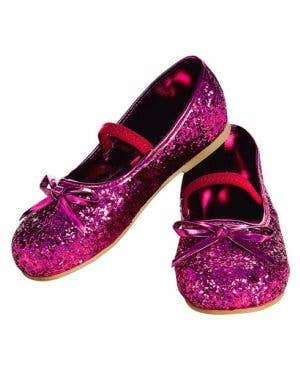 Glitter Girls Ballet Flats in Magenta