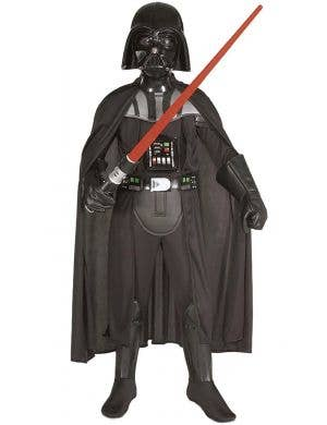 Darth Vader Boy's Star Wars Fancy Dress Sith Lord Costume Image