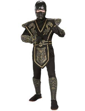 Boy's Ninja Gold and Black International Book Week Costume Front