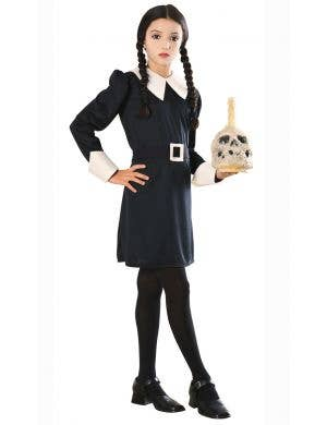 Girls Addams Family Wednesday Addams Halloween Costume Main Image