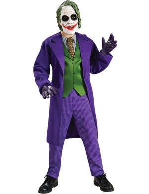 Boy's Joker Book Week Batman Villain Costume Front