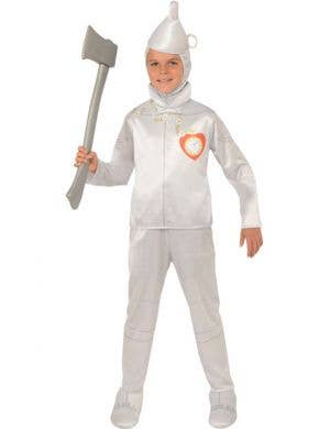 Tin Man Boy's Wizard of Oz Silver Book Week Costume Front