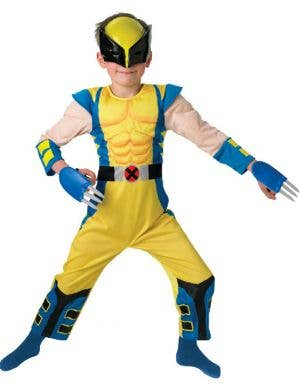 Boy's Wolverine X-Men Costume Dress Up Front View
