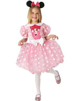 Girl's Pink Minnie Mouse Disney Costume Front View