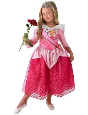 Sleeping Beauty Girl's Aurora Disney Princess Glitter Costume
