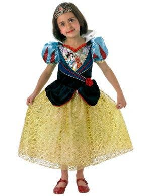 Disney Princess Snow White Girl's Deluxe Shimmer Fancy Dress Costume
