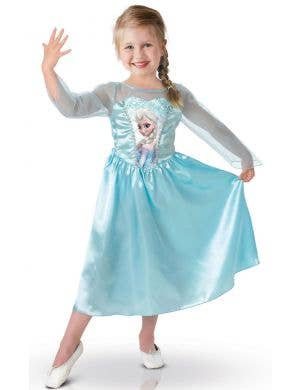 Girls Officially Licensed Elsa Fancy Dress Costume Main Image