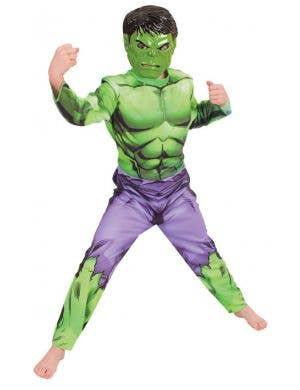 Avengers Character Hulk Kid's Jumpsuit Costume Main Image