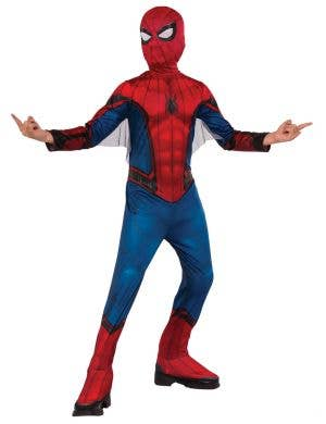 Spiderman Homecoming Classic Boys Superhero Book Week Costume full length front view
