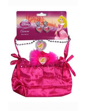 Sleeping beauty girls Disney Princess bag and jewellery costume accessory set