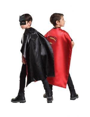 Reversible Batman to Superman Kids Costume Cape Accessory