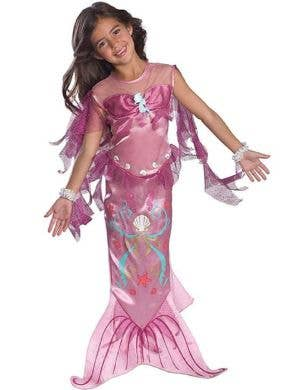 Pink Girl's Mermaid Costume Front View