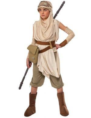 Girls Star Wars Premium Deluxe Rey Jedi Movie Character Costume