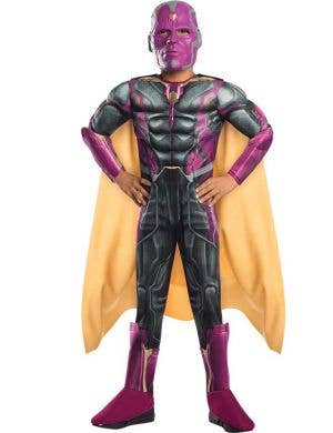 Deluxe Muscle Chest The Vision Boys Fancy Dress Costume