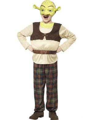 Boys Ogre Shrek Fancy Dress Costume For Book Week Front