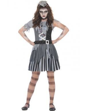 Girl's Ghost Pirate Costume Front View