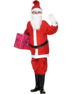 Boy's Budget Father Christmas Santa Claus Costume View 1
